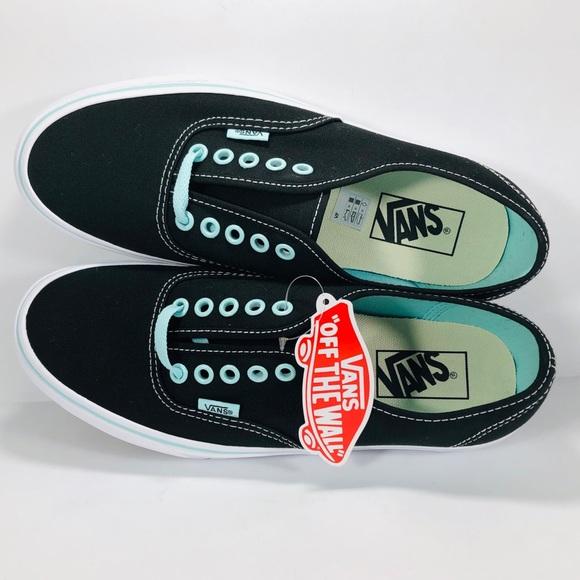 Vans Authentic POP Black With Blue Tint Sneakers b8d84c8244e
